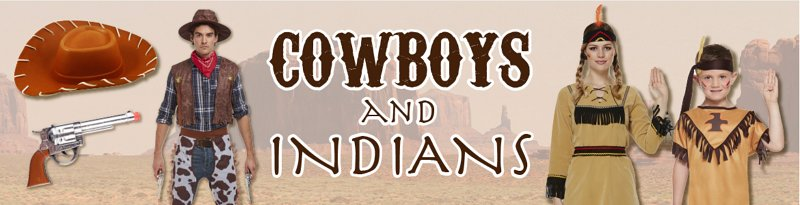 Theme Cowboys And Indians Banner