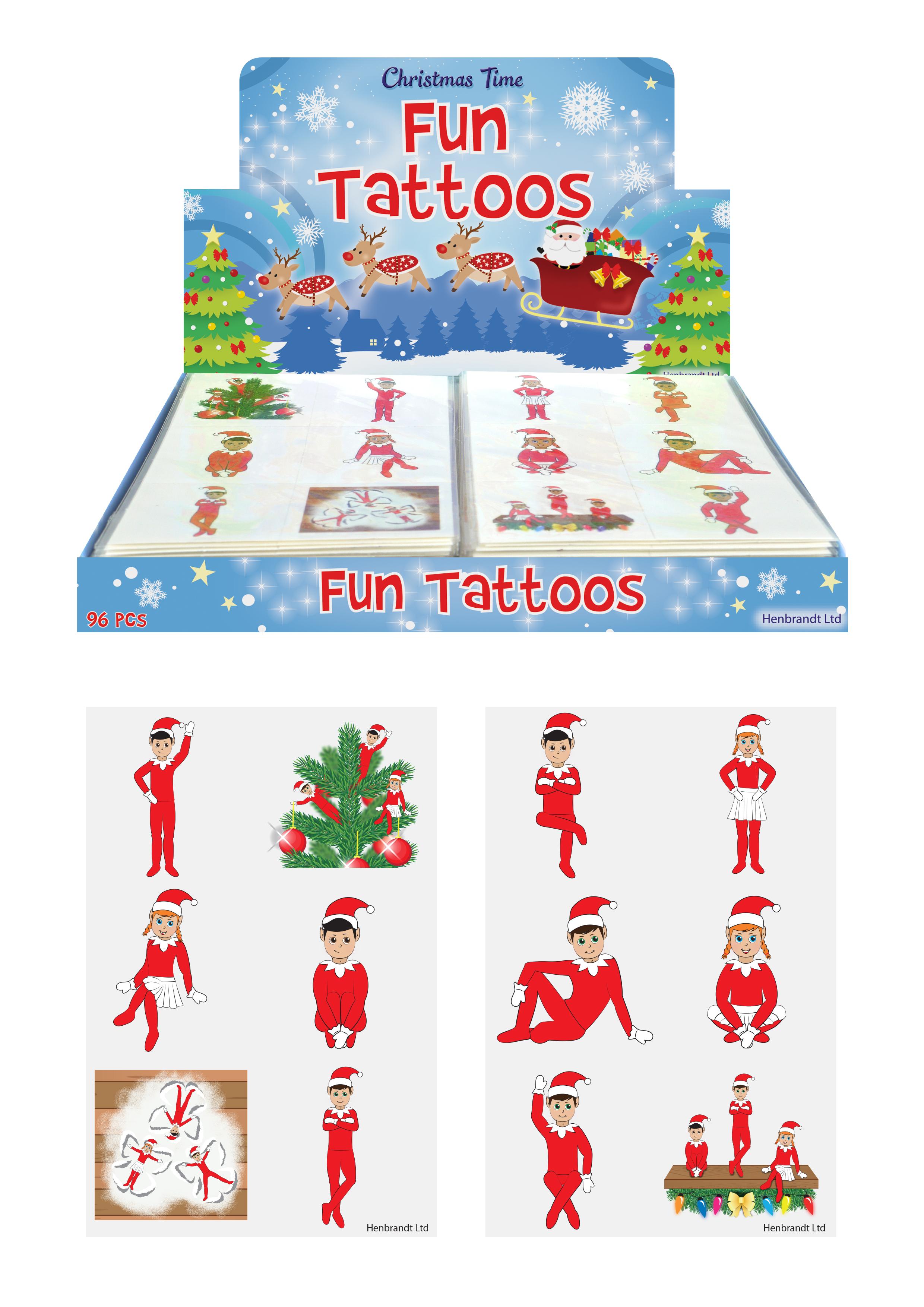 TATTOOS MINI 4CM HALLOWEEN 6 PCS//CARD 2 ASTD