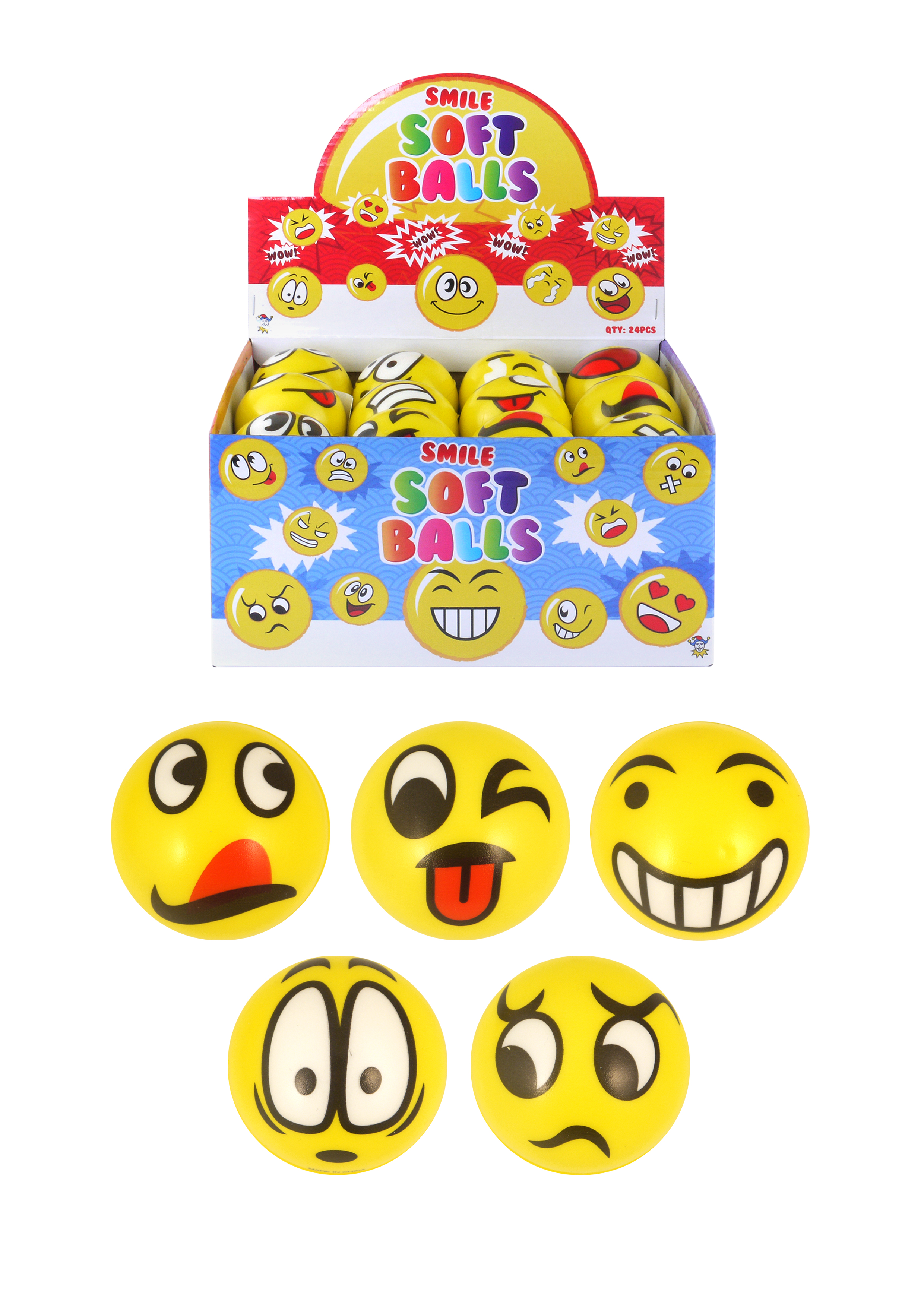 12 pack HENBRANDT Smiley Face Tattoos